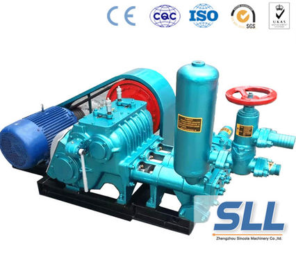 China Horizontal Drill Rig Concrete Grout Pump , SBW Triplex Plunger Electric Cement Grout Pump supplier