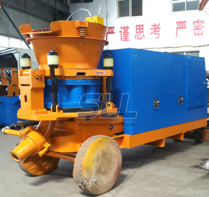 China Diesel Engine Drive Dry Shotcrete Machine Four - Point Clamping Device supplier